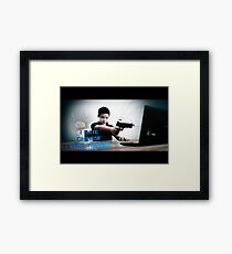 Hate chinese Tetris-wizards!! Framed Print