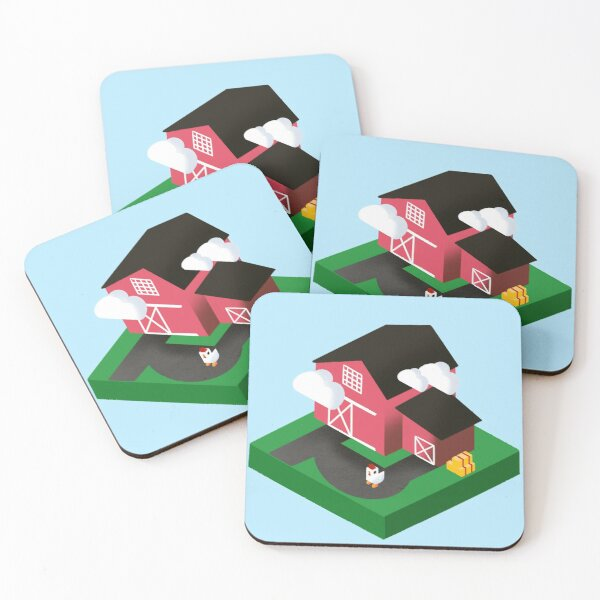 Farm Life Coasters (Set of 4)