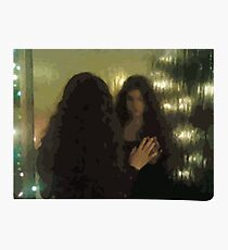 Who Is She? -- Girl in the Mirror Photographic Print