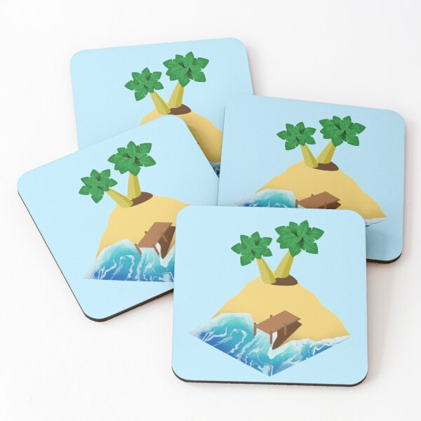 Beach Day Coasters (Set of 4)