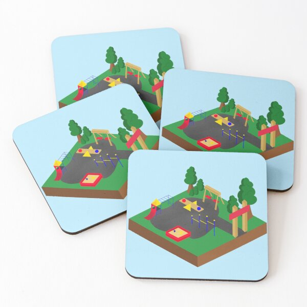 Playground  Coasters (Set of 4)