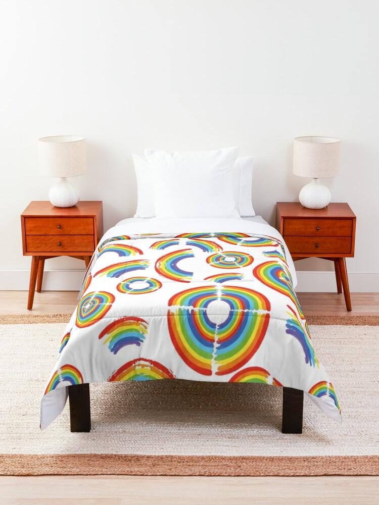 Alternate view of Rainbow Trail Comforter