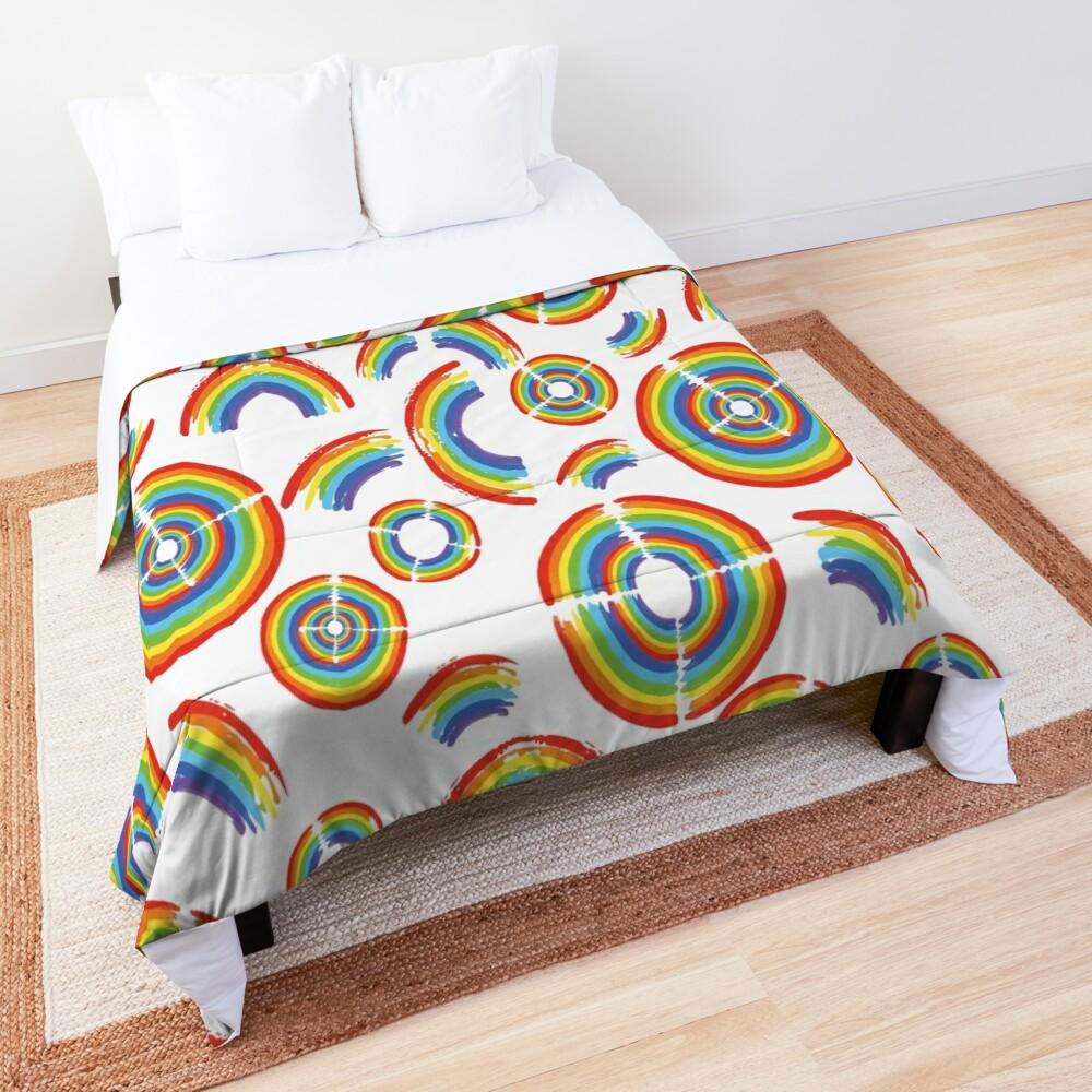 Rainbow Trail Comforter