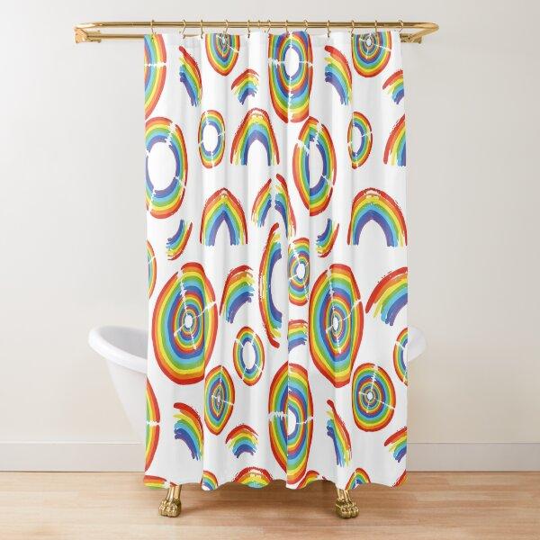 Rainbow Trail Shower Curtain