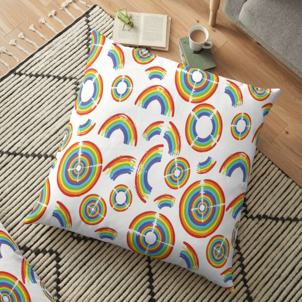 Rainbow Trail Floor Pillow