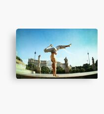 Handstand in Barcelona Canvas Print