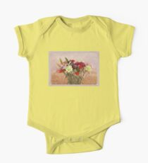 Bouquet in a Window ~ Painting Style One Piece - Short Sleeve