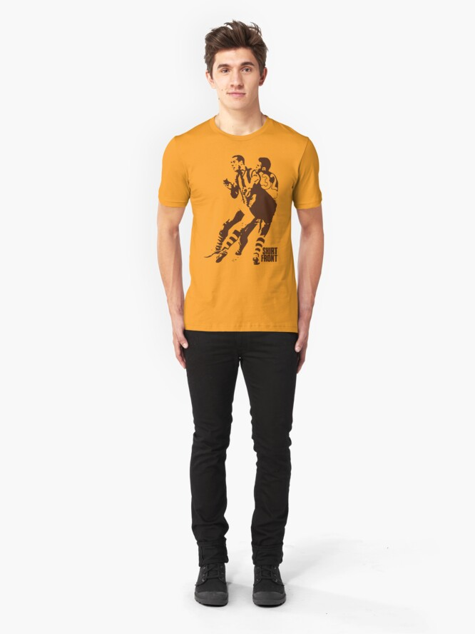 Alternate view of Bud v Cuz: Brown on Gold Slim Fit T-Shirt