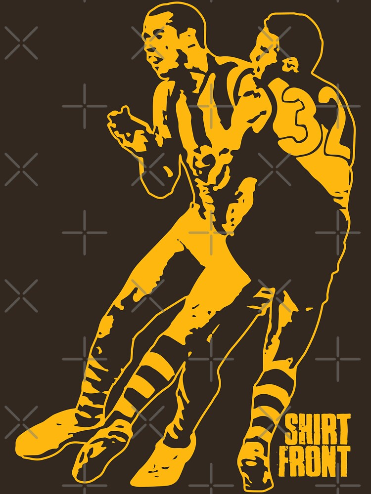 Bud v Cuz: Gold on Brown by shirtfront-co