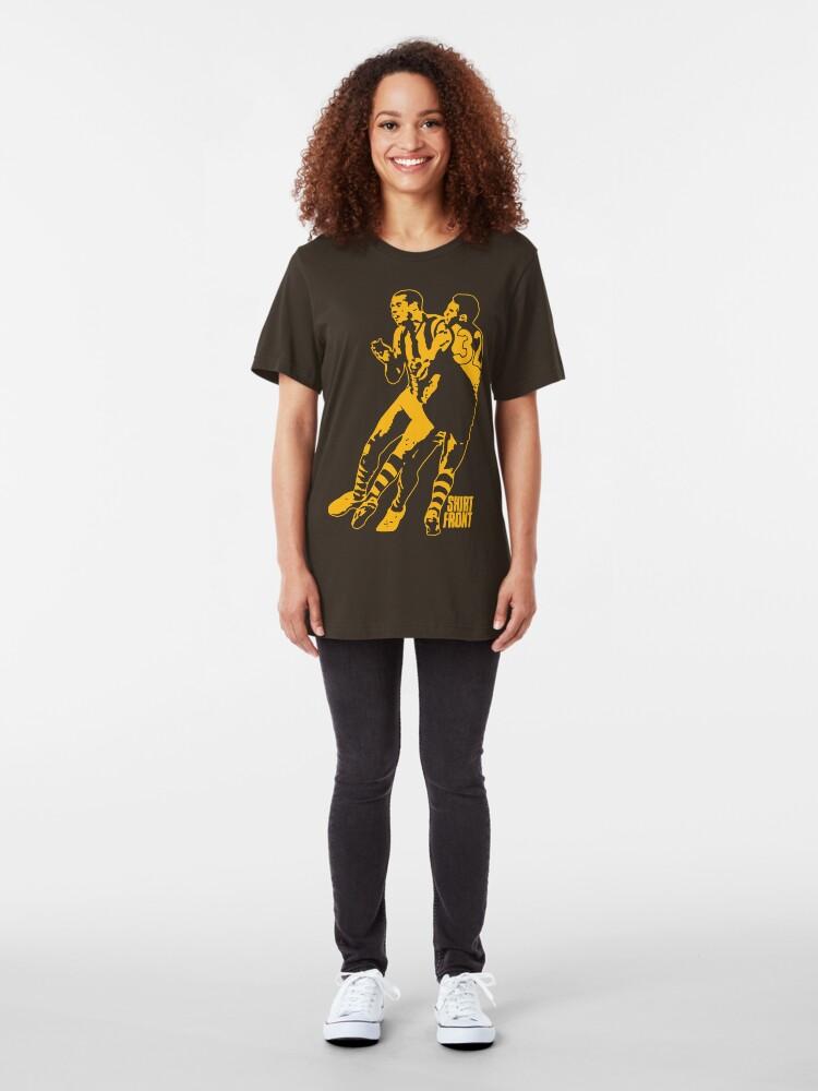 Alternate view of Bud v Cuz: Gold on Brown Slim Fit T-Shirt