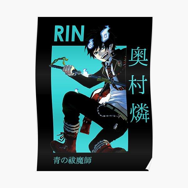 Rin Okumura Blue Exorcist Card Anime Poster