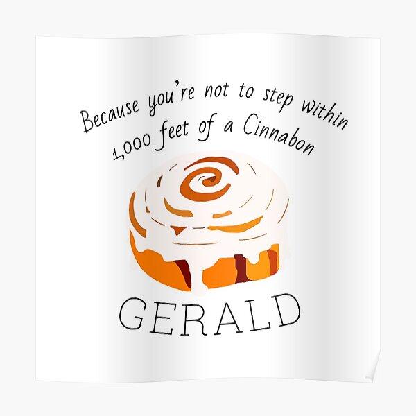 Black Friday - Gerald's Cinnabon Poster