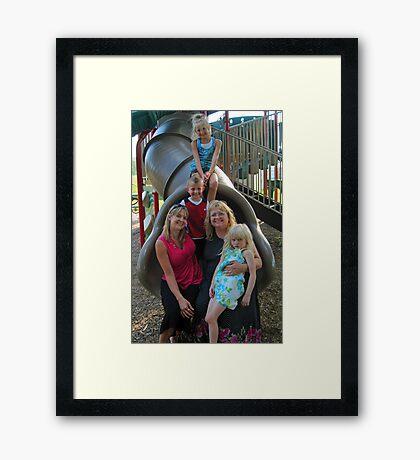 Family Day - Punxsutawney Playgound, PA Framed Print