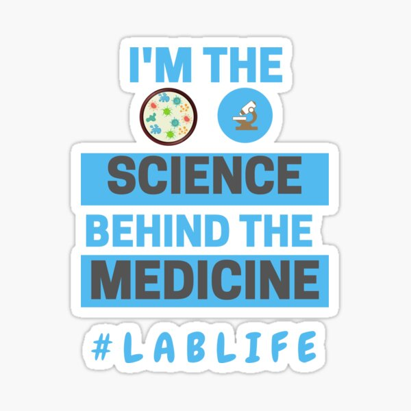 Science ThemedMad Lab Rat on Board Sticker