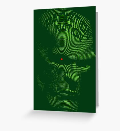 Radiation Nation (with text) Greeting Card