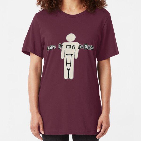 sex is my crotch Slim Fit T-Shirt