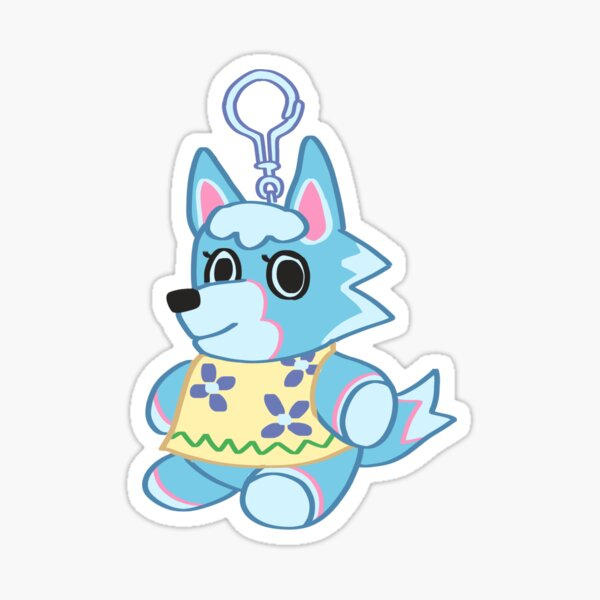 Animal Crossing: New Horizons Skye Keychain Sticker