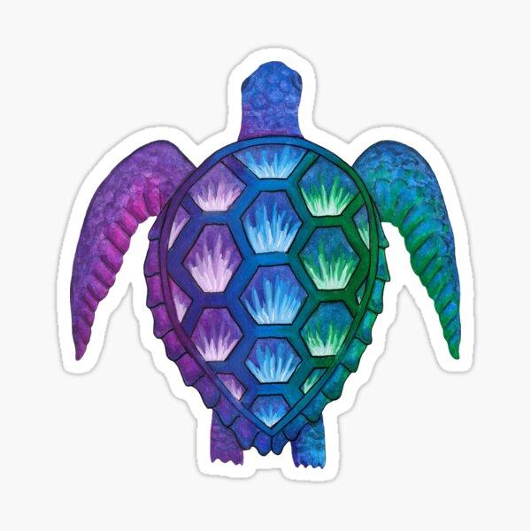 Technicolor Turtle Sticker