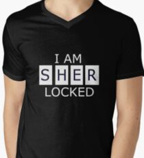 I AM SHER - LOCKED Men's V-Neck T-Shirt