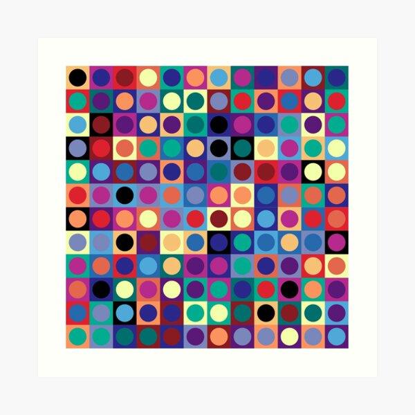 Vasarely Inspired Art Print