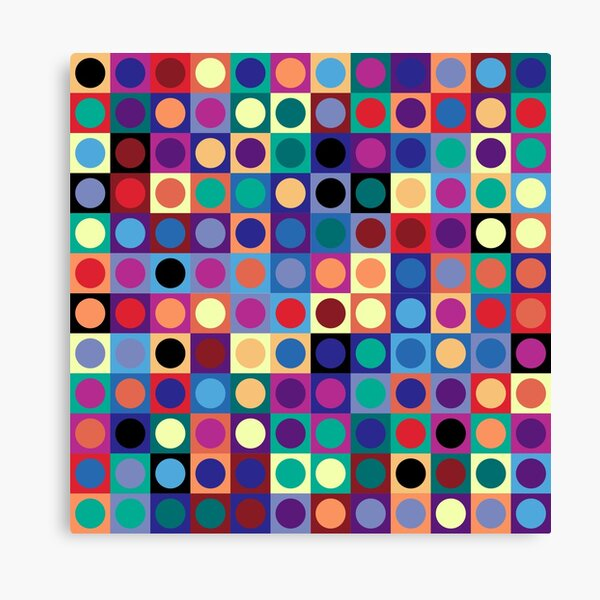 Vasarely Inspired Canvas Print
