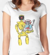 loader bot & gortys Women's Fitted Scoop T-Shirt