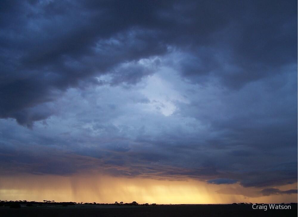 Rainstorm at Sunset, 14th May 2007 near Yorketown, South Australia  by Craig Watson