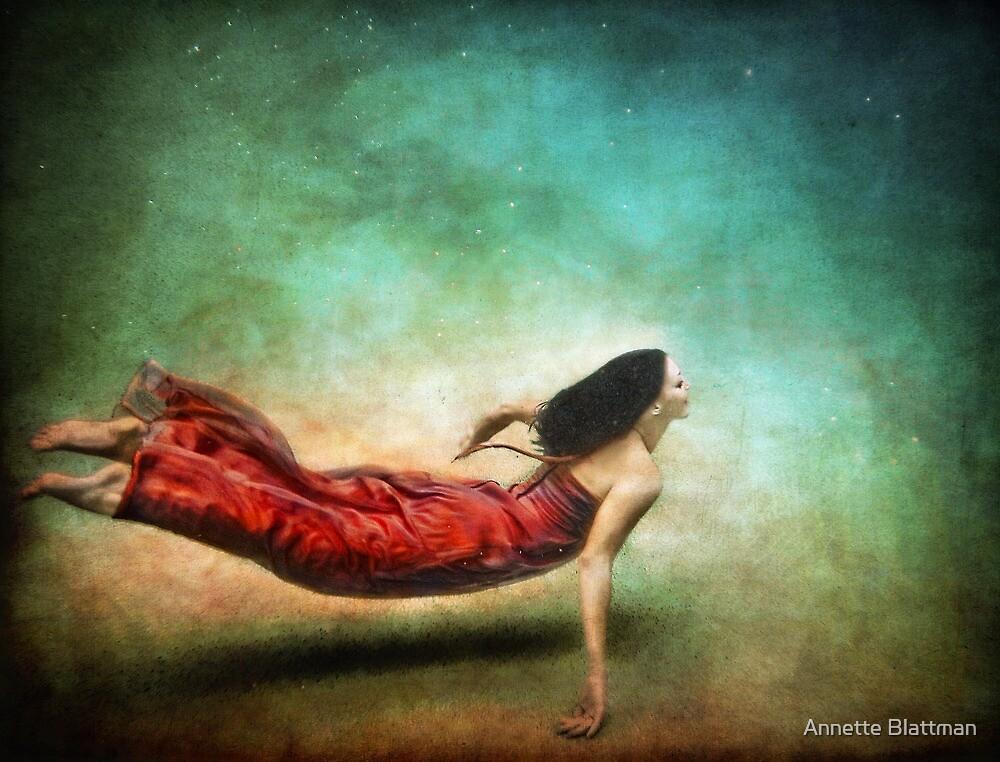 Red Dress Mermaid by Annette Blattman