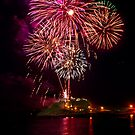 New years 2012 Nobbys lighthouse by Dave  Gosling Photography