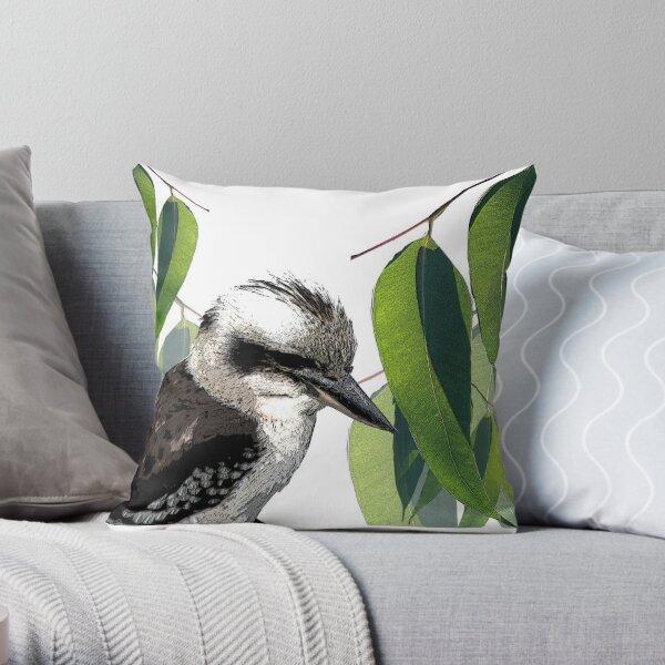 The Kookaburra in the Old Gumtree Throw Pillow