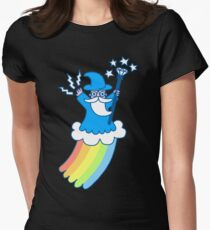 Rainbow Wizard Womens Fitted T-Shirt