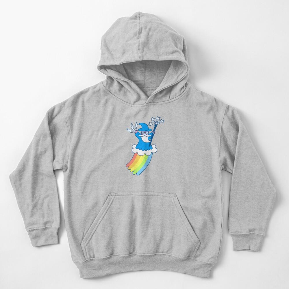 Rainbow Wizard Kids Pullover Hoodie