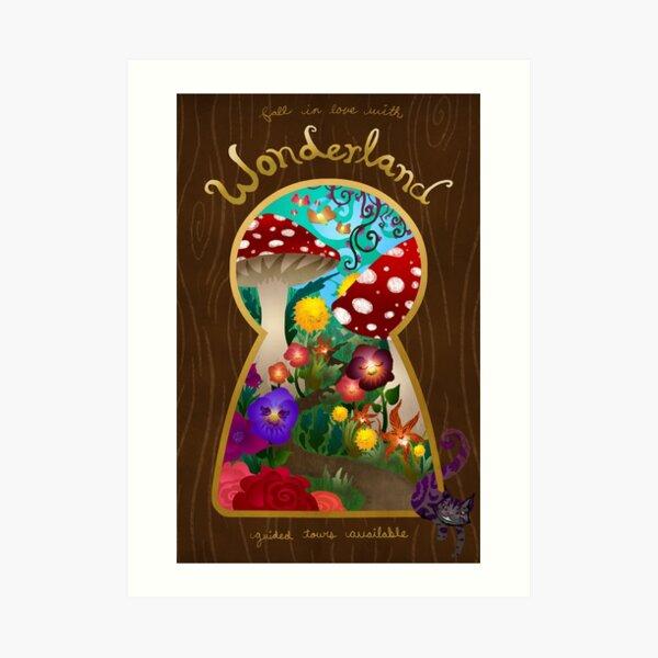 Travel to Wonderland Art Print