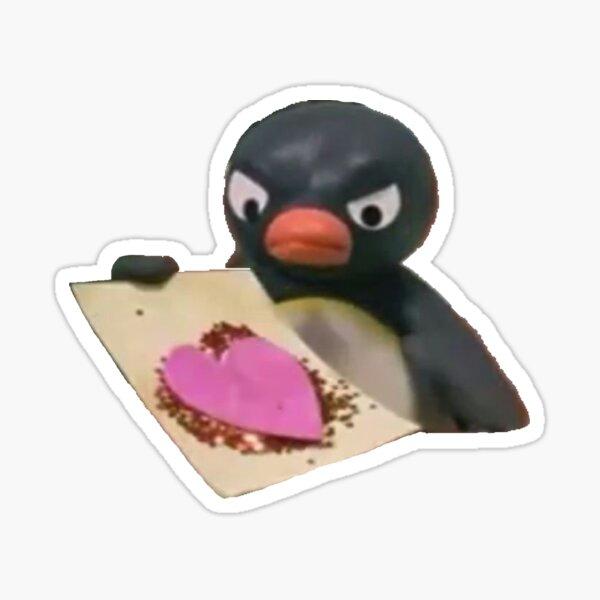 Pingu Heart Mood Sticker