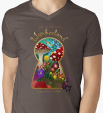 Travel to Wonderland V-Neck T-Shirt