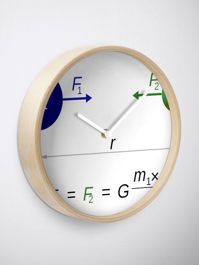 Alternate view of Every point mass attracts every single other point mass by a force acting along the line intersecting both points Clock