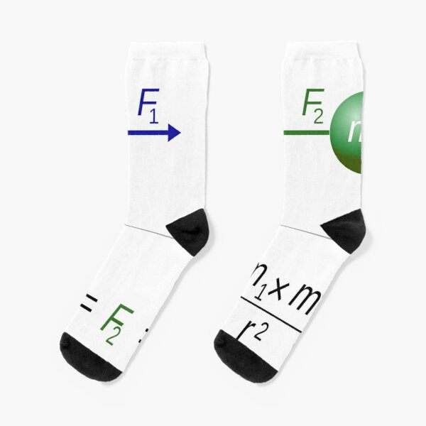 Every point mass attracts every single other point mass by a force acting along the line intersecting both points Socks