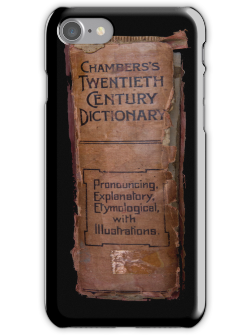 Chamber's Twentieth Century Dictionary - iPhone Case by Bryan Freeman