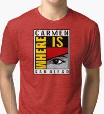 Where is Carmen? Tri-blend T-Shirt