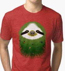 Sloth buggy - green Tri-blend T-Shirt