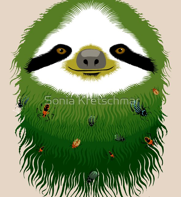 Sloth buggy - green by Sonia Kretschmar