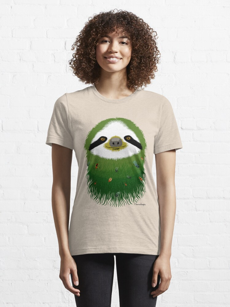 Alternate view of Sloth buggy - green Essential T-Shirt