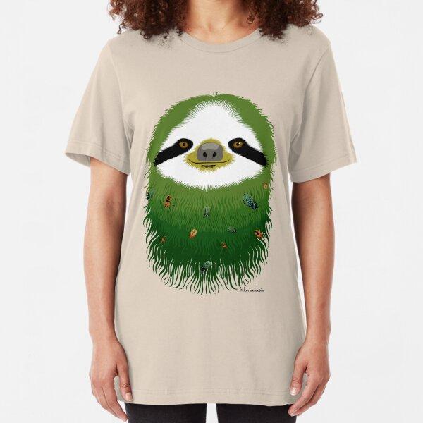 Sloth buggy - green Slim Fit T-Shirt