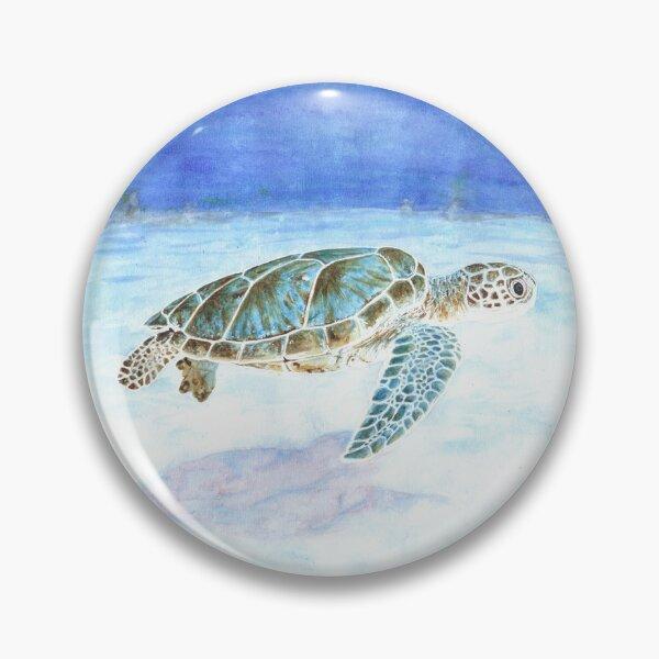Sea turtle underwater Pin