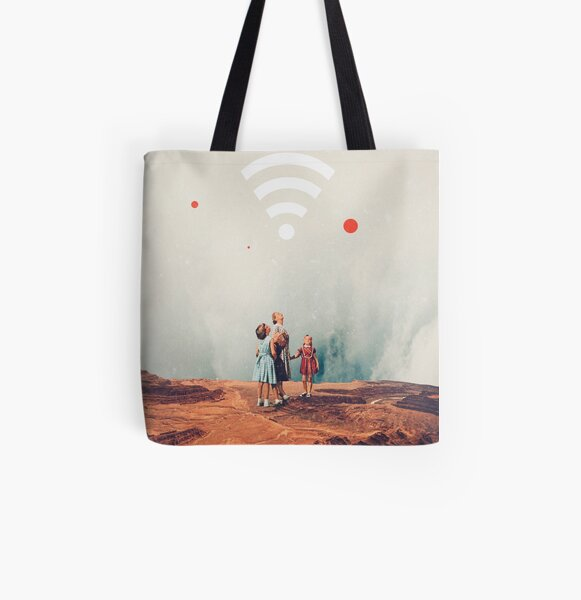 Wirelessly connected to Eternity All Over Print Tote Bag