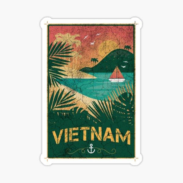 Conception de palmier vintage Vietnam Sticker