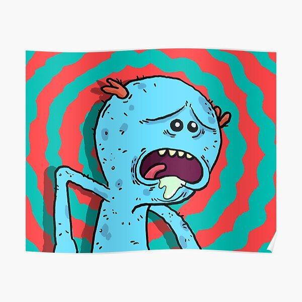 Mr Meeseeks pop art Poster