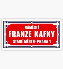 Franz Kafka Square, Prague Street Sign, Czech Republic Sticker