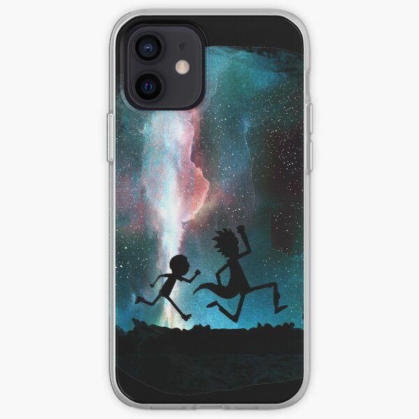 Rick and Morty under the stars iPhone Soft Case