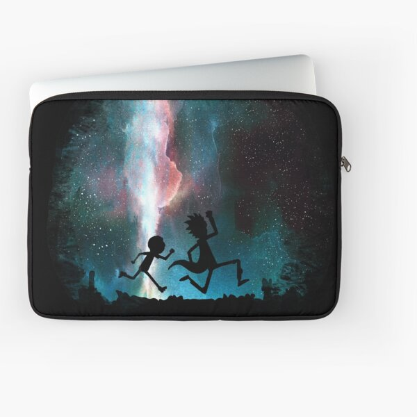 Rick and Morty under the stars Laptop Sleeve